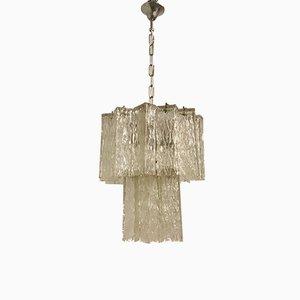 Lámpara de araña con tubos de cristal de Murano de Paolo Venini, años 70
