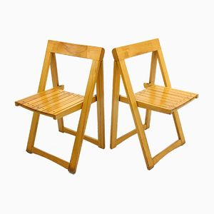 Vintage Folding Chairs by Aldo Jacober for Alberto Bazzani, 1970s, Set of 2