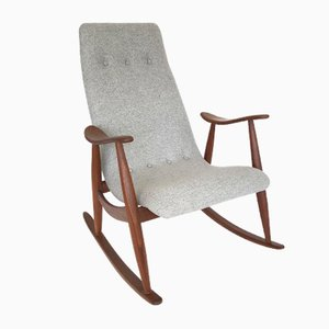 Mid-Century Rocking Chair by Louis van Teeffelen