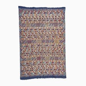 Vintage Moroccan Hand-woven Berber Kilim Rug