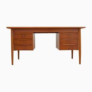 Dänischer Mid-Century Schreibtisch aus Teak von Gunnar Nielson Tibergaard