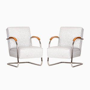 Vintage Steel Cantilever Chairs from Mücke Melder, 1930s, Set of 2