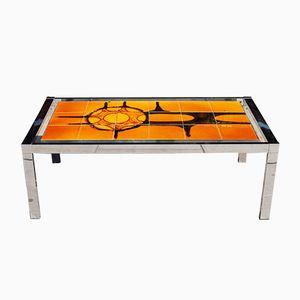 Tiled & Chrome Coffee Table, 1960s