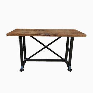 Table d'Atelier Industrielle Vintage, 1920s