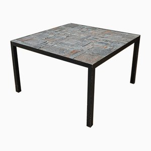 Ceramic & Metal Coffee Table, 1950s
