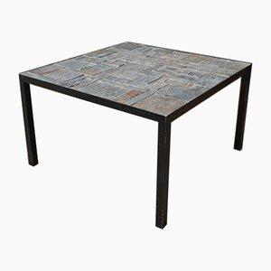 Table Basse en Céramique et Métal, 1950s