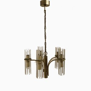 Crystal Rod Chandelier by Gaetano Sciolari, 1970s