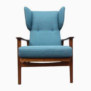 Petrol Blue Armchair, 1960s