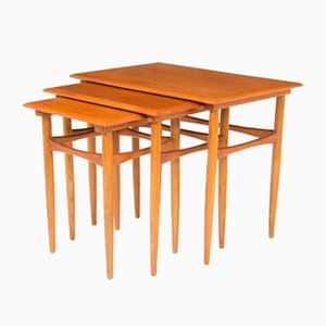 Tables Gigognes par Poul Hundevad, 1960s, Set de 3
