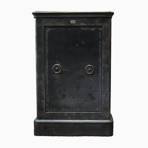 Vintage Steel Safe with Keys, 1920s