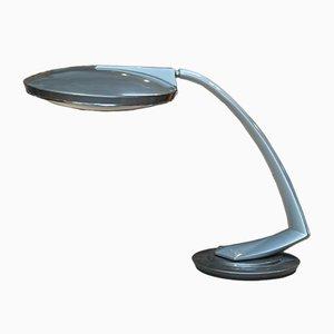 Schreibtischlampe aus Metall & Glas von Fase, 1970er