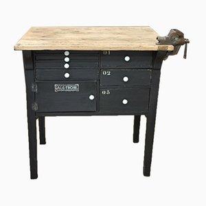 Petite Table de Meunuisier Vintage Noire en Bois