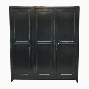Pine Armoire with 3 Doors, 1940s