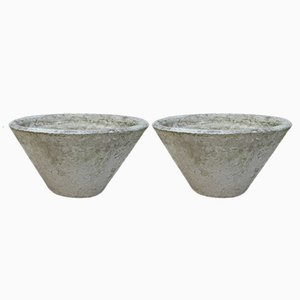 Garden Planters in Cement, 1950s, Set of 2