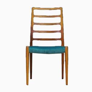 Chaises de Salle à Manger Modèle 82 Vintage par Niels Otto Møller pour J.L. Møllers, Danemark, 1960s