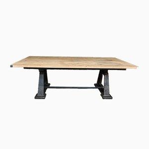 Antiker industrieller Tisch aus Eiche