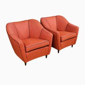 Vintage Italian Armchairs, Set of 2