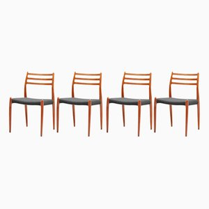 Model 78 Dining Chairs by Niels Otto Møller for J.L. Møllers, 1960s, Set of 4