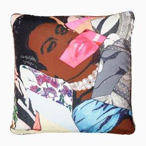 Clarivel Centered Kissenbezug von Mickalene Thomas für Henzel Studio, 2014