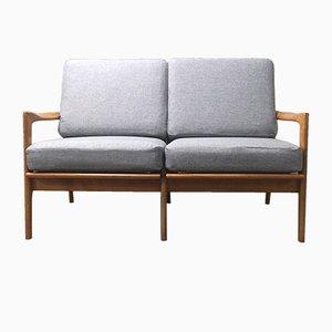 Sofá de dos plazas danés Mid-Century de haya, años 60