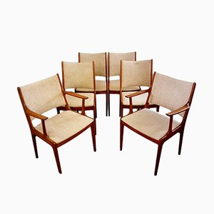 Sillas de comedor danesas de Johannes Andersen para Uldum Møbelfabrik, años 60. Juego de 6