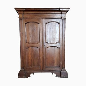 Antique Louis XIV Wardrobe in Solid Walnut, 1680s