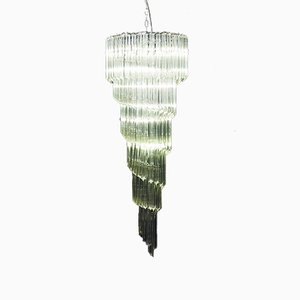 Murano Glass Spiral Chandelier, 1970s