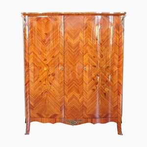 Vintage Rosewood Wardrobe with Inlay, 1950s