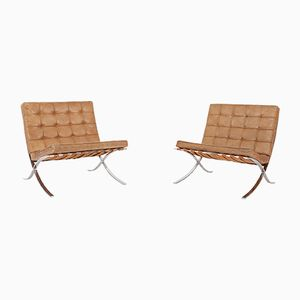 Barcelona Lounge Chairs by Ludwig Mies van der Rohe for Knoll, 1960s, Set of 2