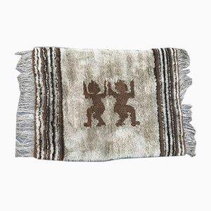 Handgemachter afrikanischer Vintage Teppich