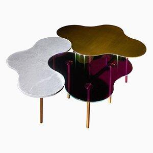 Couchtische aus Messing von Sebastian Scherer, 3er Set