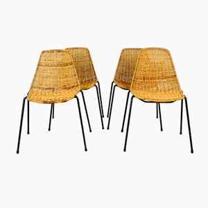 Mid-Century Modern Basket Chairs by Gian Franco Legler, 1960s, Set of 4