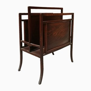 Walnut Magazine Rack, 1940s
