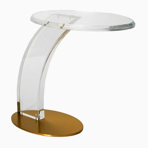 Postmodern Plexiglas Side Table, 1980s