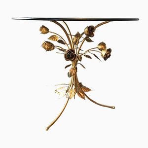 Italian Rose Gilt Tole Table, 1950s