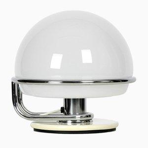 Lampada da tavolo in metallo e vetro, Italia, anni '60