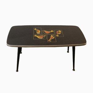 Table Basse à Motif Oiseau, 1950s