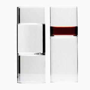 Bicchiere da vino o acqua Revolution di Fernando Ferrone per fferone, Set di 2
