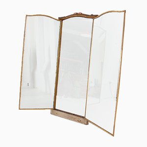 Large Triptych Mirror from Miroir Brot of Paris, 1920s