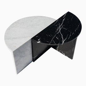 Couchtische aus Marmor in Schwarz & Weiß von Sebastian Scherer, 2er Set