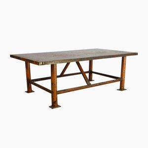 Tavolo vintage in ferro, anni '60