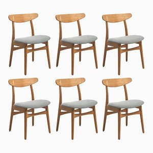 CH 30 Dining Chairs by Hans Wegner for Carl Hansen & Søn, 1950s, Set of 6