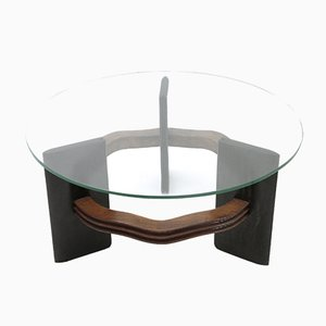 Italian Coffee Table with Glass Top by Vittorio Valabrega, 1930s