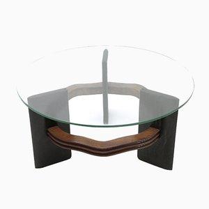 Mesa de centro italiana con tablero de vidrio de Vittorio Valabrega, años 30