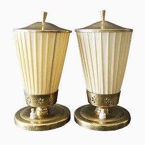 Lampe de Bureau en Laiton, 1940s, Set de 2