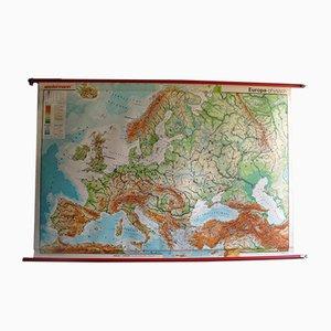 Mappa vintage dell'Europa di Westermann