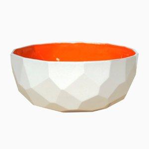 Orange Poligon Bowl from Studio Lorier