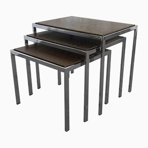 Nesting Tables with Turnable Tops by Cees Braakman for Pastoe, 1960s, Set of 3
