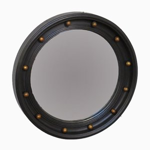 Vintage English Butler's Porthole Convex Mirror