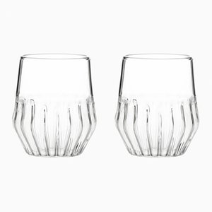 Small Mixed Glasses by Felicia Ferrone for fferrone, Set of 2